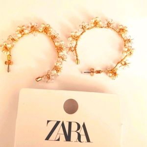 Zara pearl hoop earrings, super pretty ,BNWT